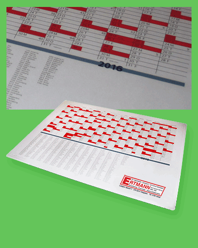 Gigantgrafik - skrivebordsunderlag kalender