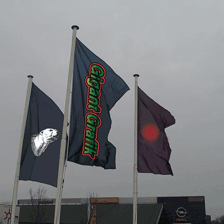 Gigantgrafik - Flag og bannere flagrere